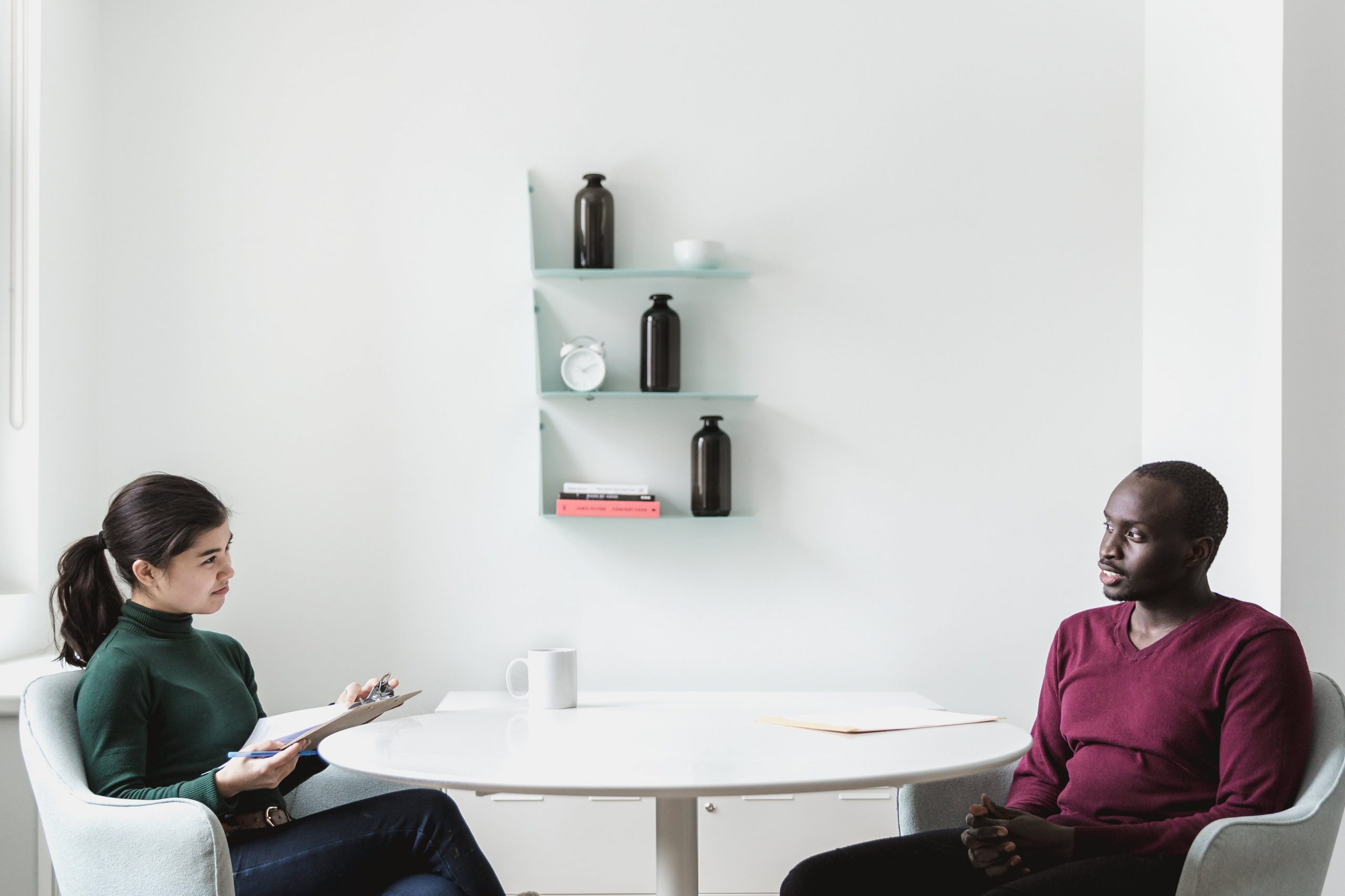 man-woman-interview